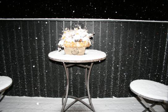 I v zimě má balkon svoje kouzlo